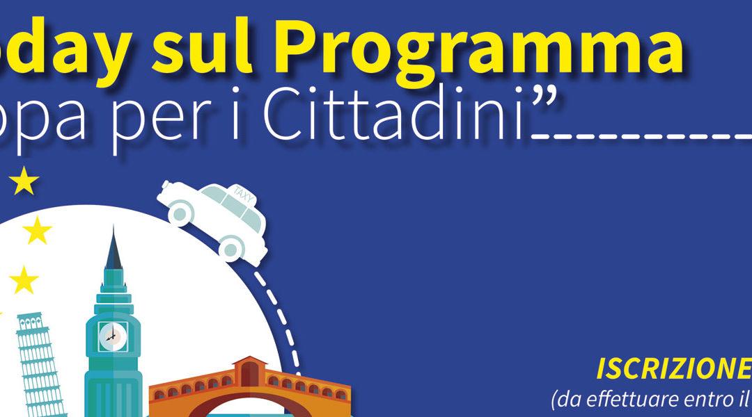 Infoday sul Programma Europa per i Cittadini