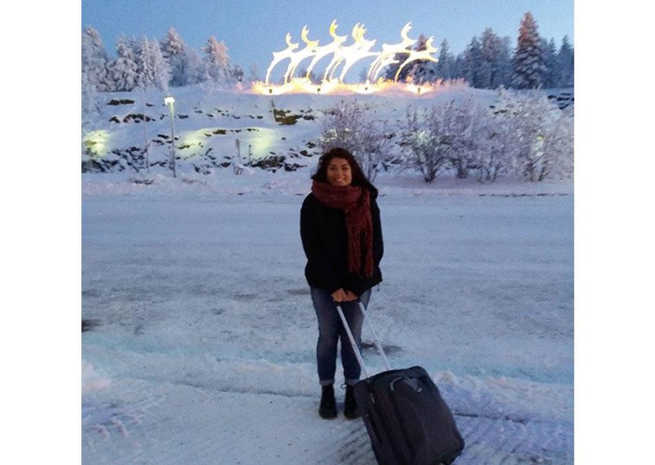 La Finlandia di Giulia: l'entusiasmo che supera i -17°