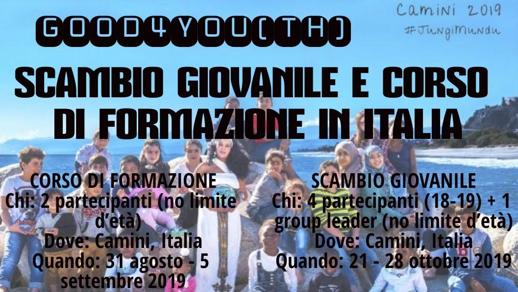 Scambio Giovanile e Corso di Formazione in Italia