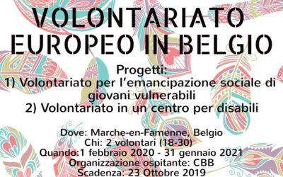 Volontariato Europeo in Belgio