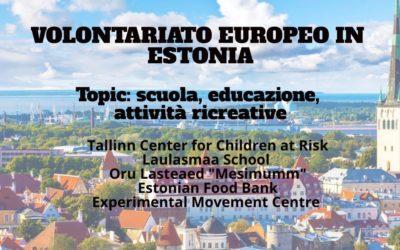 Diverse opportunità di volontariato europeo in Estonia