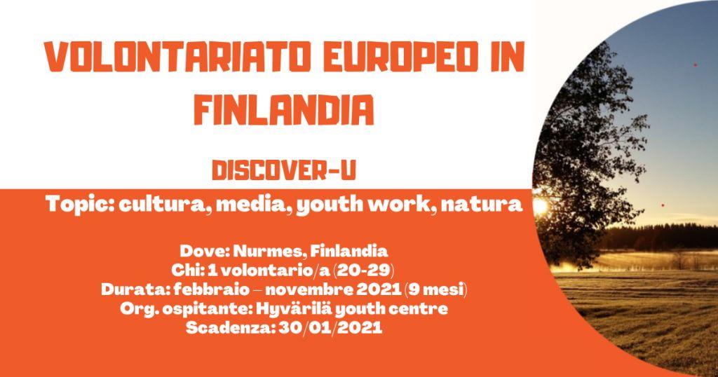 Volontariato Europeo in Finlandia